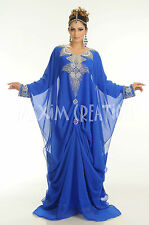 DUBAI VERY FANCY KAFTANS abaya jalabiya Ladies Maxi Dress New Wedding gown 4134