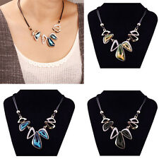 Fashion Womens Necklace Irregular Geometric Water Drop Choker Bib Chunky Jewelry
