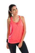 Women's 2 Pack Active Racerback Athletic Sports T-shirt Long Tank Top