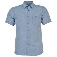 Pierre Cardin Mens Short Sleeve Shirt Navy/White Gingham New With Tags