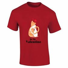 Cats Be My Valentines New Mens Top Novelty Designer Lot Present Printed T Shirt