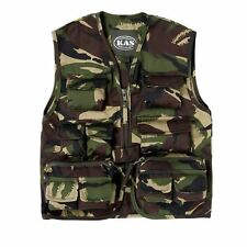 KAS BOYS ARMY SOLDIER FANCY DRESS COSTUME KIDS DPM CAMO ASSAULT VEST DRESS UP