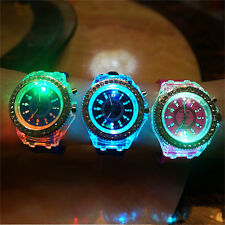 Unisex Silicone Strap LED Wristwatch Luminous Glow In The Dark Watch Lover Gift