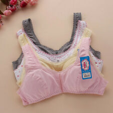 New Young Girls Students Training Bras Wire-Free Soft Cotton Spandex Sport Bra