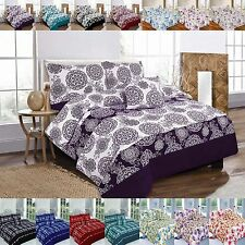 5PC Bed in a Bag Multi Design Duvet Cover Set with Pillowcase+Runner+Cushion