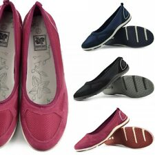 Womens Ladies Flat Mary Jane Walking Pumps Ballerina Comfort Shoes Size UK