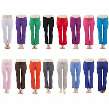 Ladies Colourful Fitness Boot-cut Yoga Pants Sports Trousers