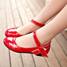 Womens Girls Ankle Strap Mary Jane Low Ballet Flat Oxfords Pumps Shoes Fashion