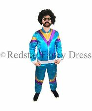 MENS SCOUSER SHELL SUIT 80S FANCY DRESS COSTUME JIMMY STAG DO OUTFIT