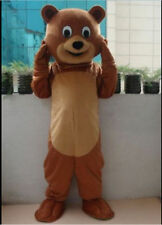 New Adult Size Brown Teddy Bear Mascot Costume Fancy Dress Party Cosplay