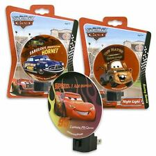 Night Light Plug-in with Adjustable Shade Disney Cars McQueen Mater Hudson New