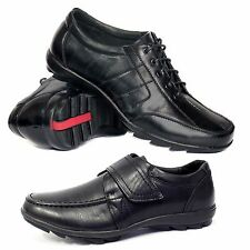 Boys School Shoes Kids Smart Dress Formal Wedding Black Back To School Shoe Size