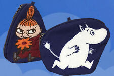 """Moomin Valley """"Little My"""" + """"Moomintroll""""  Embroidered  Cosmetic Phone Purse"""