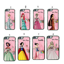 iPhone Samsung LG HTC MOTO iPod Disney Princess Phone Case Cover with NAME