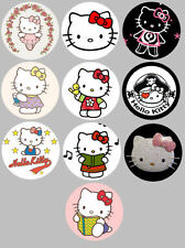 Hello Kitty Set of 10 Buttons or Magnets NEW 1.25 inch