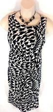 Planet Dress UK 16 Jersey Retro Dog tooth check bodycon Windsmoor Ruched rrp £99