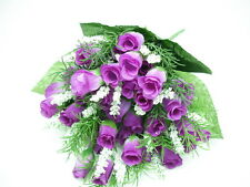 FREE P&P factory price Purple Silk Rose Buds BB Breath artificial flower posy