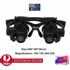 Jeweler Magnifier 10X 15X 20X 25X LED Magnifying Loupe rotate 180 degrees ZB6