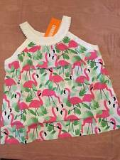 NWT Gymboree Fruit Punch Flamingo Print Cotton Sleeveless Top 5 or 6