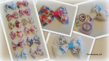 Hair Bow Clip Alligator,Girls Handmade Character Grosgrain Ribbon - List 3