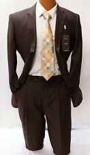 Angelo Rossi by Giorgio Cosani Brown Modern Fit Suit Mens Suits