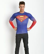 Under Armour Shirts Superman Heatgear Compression Longsleeve