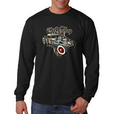 Chop Shop Classic Old School Hot Rat Rod Car Auto Racing Long Sleeve T-Shirt