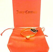 NEW JUICY COUTURE PAVE HEART HINGE BRACELET **GIFT WITH PURCHASE~JC MINI CHARM**