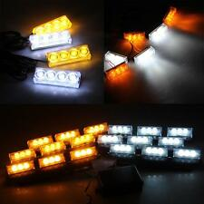 White Yellow LED Strobe Dash Police Emergency Flashing Warning Light for Car