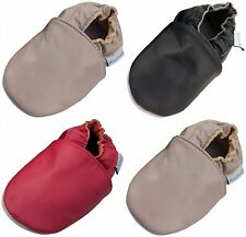 MINIFEET SOFT LEATHER BABY SHOES 0-6, 6-12,12-18,18-24 MTH & 2-3 YRS PLAIN STYLE