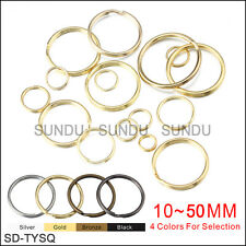 Wholesale 10~50mm Metal Split Key Ring Keychain Ring With 4 Colors