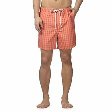 Maine New England Mens Orange Gingham Check Shorts From Debenhams