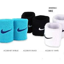 NIKE Training Basketball Tennis Running Wristbands Sweatband Swoosh Black,White
