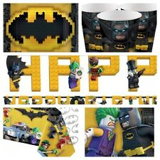 BATMAN LEGO Birthday Party Kit for 8-40 Plates Cups Napkins Table Cover Banner