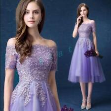 New Womens Lace Party Wedding Prom Gown Bridesmaid Evening Ladies Formal Dress