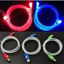 Fast Speed Visible LED Light Micro USB Cable Sync Data Charger For Android Model