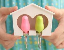 Wall Hook Key Ring Gadget Home Holder Keychain 1 Pcs Lover Birdhouse Sparrow