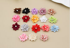 With NEW Satin Appliques Bead 50PCS Crystal Ribbon Craft/Trim Flower HOT DIY