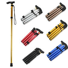 Aluminum Adjustable Metal Folding Walking Stick Hiking Collapsible Travel Cane