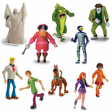 "SCOOBY DOO 5"" FIGURES COLLECTION SHAGGY VELMA DAPHNE 1000 V SKELETON FRED SET 5"