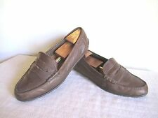 Mens Timberland Brown Leather Casual Driving Loafers Size 12 M