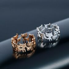 NEW Cat Kitten Ring Gold Silver Plated Cute Pet Animal Encircle Round Jewelry