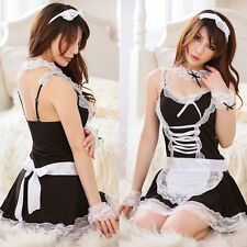 Sexy Women Maid Lingerie Outfit Fancy Dress Halloween Costume Babydolls Cosplay