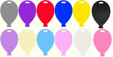 Balloon Shape Weights Plastic (HELIUM) Party Birthday Choice of Colours solid