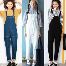 Ladies Overall Pants Jumpsuits Rompers Salopette Denim Trousers Oversized Casual