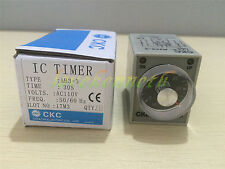 1/2/5 pc 12/24VDC 110/220VAC AH3-3 30s 60s 3min Power On Delay Timer Relay
