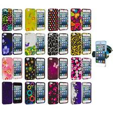 For iPhone 5 5S Color Design Hard Snap-On Rubberized Case Cover+Windshield Mount