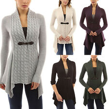 Womens Long Sleeve Knitted Cardigan Casual Sweater Top Inrregural Coat Outwear