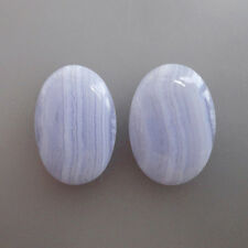 20x15MM Oval Shape, Blue Lace Agate Calibrated Cabochons AG-207