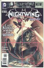 NIGHTWING #13 / SIGNED BY TOM DEFALCO / DF COA 28 OF ONLY 40 SIGNED